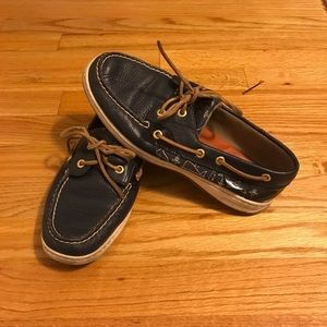 Women's leather navy sperry 8.5